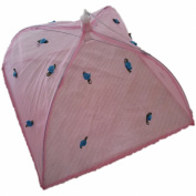 Pink Rose Design Fold Away Food Cover 30 x 30cm