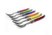 Laguiole - I7210P6-NT - Set of 6 Forks - 6 Pastel Colours