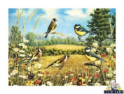 Premium Glass Chopping Board - Goldfinch Birds Design Kitchen Worktop Saver Protector