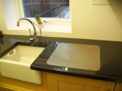 Stainless steel worktop chopping board 400mm square from the Avonstar Classic range.