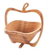 Traditional Folding Decorative Bamboo Apple Shaped Fruit Bowl