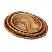 Olive Wood Set of 3 Stackable Oval Dishes