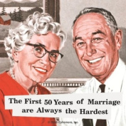 First 50 Years of Marriage... single funny drinks coaster
