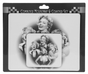 Marilyn Monroe Themed Mouse Mat & Coaster Gift Set