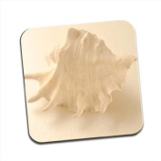 Whispering Shell Single Premium Glossy Wooden Coaster