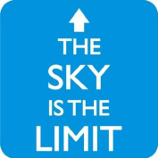 The Sky Is The Limit drinks mat / coaster