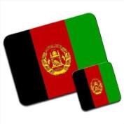 Afghanistan Flag Premium Mousematt & Coaster Set