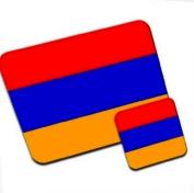 Armenia Flag Premium Mousematt & Coaster Set