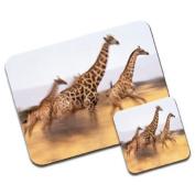 Giraffe Premium Mousematt & Coaster Set