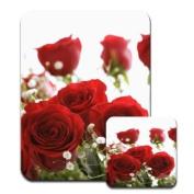 Just Roses Premium Mousematt & Coaster Set