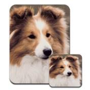 Shetland Sheepdog Premium Mousematt & Coaster Set