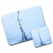 Water Splash Premium Mousematt & Coaster Set