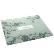 Place Name Table Mat Pair - Glass Flower Design