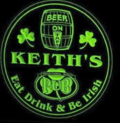 4x ccpa1577-g KEITH'S Irish Shamrock Pub Ale Bar Beer Etched Engraved 3D Coasters