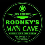 4x ccpb0112-g RODNEY'S Man Cave Cowboys Bar Beer Drink Etched Engraved 3D Coasters