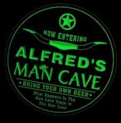 4x ccpb0123-g ALFRED'S Man Cave Cowboys Bar Beer Drink Etched Engraved 3D Coasters