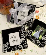 Pack of 6 Floral Photo Coaster Set Wedding Favours Gifts