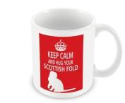 Cat Mug - Keep Calm And Hug Your Scottish Fold