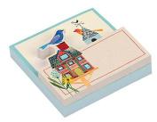Avian Friends Birdhouse Shaped Memo Pad