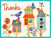 Avian Friends Birdhouse Thank You Glitz Notecards