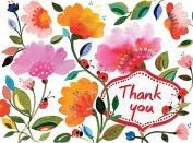 Kim Parker Floral Thank You Glitz Notecards