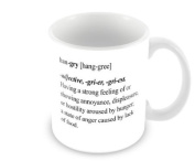 Mug With Slogan : Dictionary Definition Of Hangry
