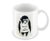 Printed Banksy Mug - Keep It Real Chimp