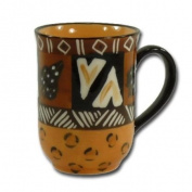 "Mug ""Animal Print"", straight shape"