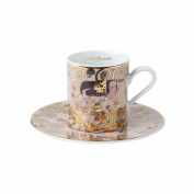 Gustav Klimt Espresso Demitasse Cup and Saucer - Expectation