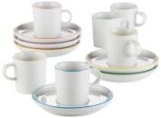 Arzberg Porcelain Cucina Colori 2100/70657/3715 Espresso Set of Twelve Assorted