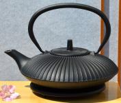 Trivet black & Tetsubin Cast Iron Zen Garden black teapot kettle 0.8 litre Japanese style