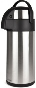 Andrew James 5 Litre Stainless Steel Pump Action Airpot Ideal For Hot And Cold Beverages