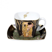 """Goebel 66884214 Coffee Cup with Design """"The Kiss"""" by Gustav Klimt"""