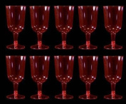 Disposable Party Neon Pink Plastic Wine Glasses 10/Pack
