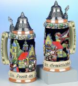 Beer Stein Oktoberfest Relief Stein 0.75 litre tankard, beer mug