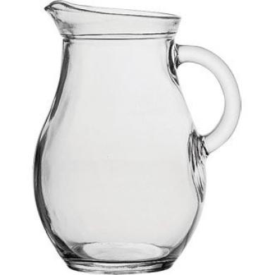 Brand new glass water/juice jug 1.0 litre, 1.8 pint.