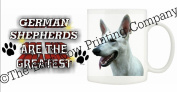 German Shepherd (White) DOG Ceramic Mug 300ml Dishwasher proof 130