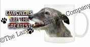 Lurcher (Hairy) DOG Ceramic Mug 300ml Dishwasher proof 164