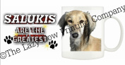 Saluki (Tan)DOG Ceramic Mug 300ml Dishwasher proof 209