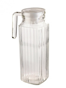 1 Litre Square Glass Jug With Lid