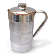 Copper Jug with Lid Outside Stainless Steel, Improve Health