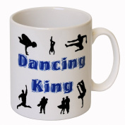 'Dancing King' Novelty Mug - MugsnKisses Range - Each Mug Includes Free Chocolate Kiss!
