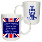 """God Save The Queen"" Diamond Jubilee Souvenir Mug - MugsnKisses Collection - Each Mug Includes Free Chocolate Kiss! - Royal Family, Collectable, Memorabilia"
