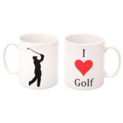 'I Love Golf' Mug - MugsnKisses Collection - Each Mug Includes Free Chocolate Kiss!