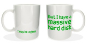'I May Be A Geek' Cool Novelty Office Tea Coffee Gift Mug - MugsnKisses Collection - Each Mug Includes Free Chocolate Kiss!