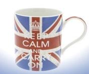 Keep Calm and Carry On Fine China Mug (Union Jack) - Boxed mug
