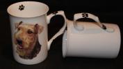 Bone China AIREDALE TERRIER 300ml Dog Beaker, Mug