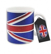 Ceramic Mugs Union Jack Design in Glitter Finish