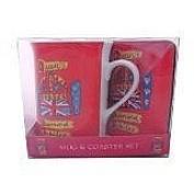 Elgate Diamond Jubilee Ceramic Red Mug And Coaster Set Red