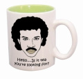 Hello Is It Tea You're Looking For Green Inner Funny Ceramic Mug - MugsnKisses Range - Each Mug Includes Free Chocolate Kiss!